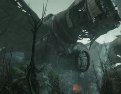 I had the opportunity to work on the latest HAWKEN map, Wreckage.  My main responsibilities were to create the exterior for the spaceship and set dress the exterior environment.