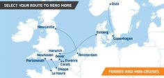 DFDS Ferries and Mini Cruises from the UK to France, Holland and Denmark. Select Your Route.