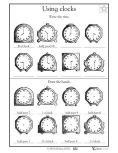 1st grade math worksheets slide show - Worksheets and Activities - What time is it? | GreatSchools