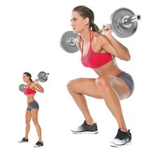 Erin Stern does the Barbell Sumo Squat