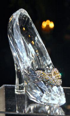 Real glass slipper - Cinderella's slipper