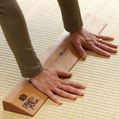 Wrist elevator for for dog pose, handstands, etc. I gave up on yoga because my wrists would hurt so bad.