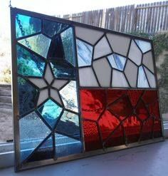 I would love to take a stained glass class. Texas Flag in TriColors of Glass. Stained Glass Art, Mosaic Glass, Glass Vase, Shes Like Texas, Only In Texas, Texas Forever, Texas Flags, Loving Texas, Texas Pride