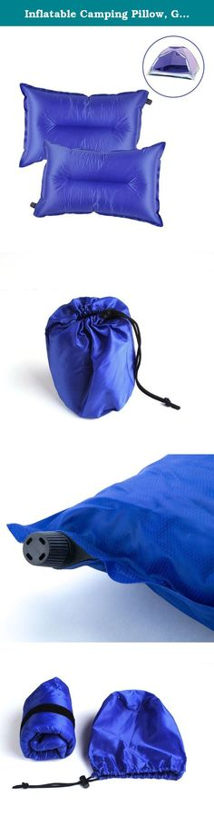 Inflatable Camping Pillow, G2PLAY Set of 2 Packs Self Inflating Air Travel Pillows with Storage Pouch for Camping, Hiking, Traveling, Backpacking, Picnic, Outdoor Sports Events (Blue). Bring this air inflatable pillow make you a comfortable and safe camping trip with your family! Specifications: Package Size: 6.7 x 4.7 x 3.9in (17 x 12 x 10cm) Dimensions(Inflated): 15.75 x 11.8 x 2.76in (40 x 30 x 7cm) Color: Green, Blue, Orange,Red Weight: 251g / 8.85oz Material: Polyester Checked Fabric...