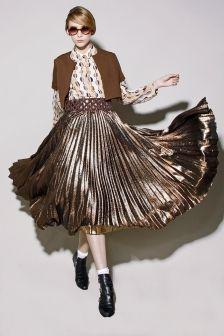 Beautiful pleated gold skirt