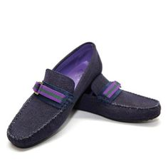 Ribbon Moccasins Men's Navy, 99€, now featured on Fab.