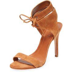 5e01eef080dc Schutz Schutz Women s Kora Suede Ankle-Wrap Sandal - Cognac - Size 8.5 (165