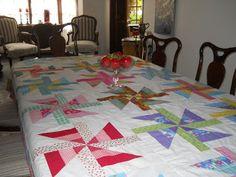 Los Quilts de Merce: Manteles en patchwork