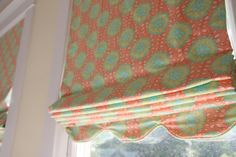 LOVE this roman shade for little girls room