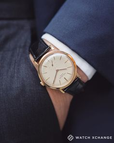 Endlessly #Stylish // A #vintage yellow-gold automatic #Patek Philippe #Calatrava from circa1967 // Available now at watchxchange.london