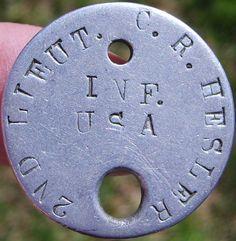 Dog Tags Military, World War I, World War One