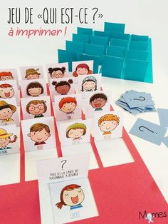 Practicing vocabulary for describing people in French. Voici la version papier d… Practicing vocabulary for describing people in French. French Teacher, Teaching French, Guessing Games For Kids, Diy For Kids, Crafts For Kids, French Games For Kids, Core French, French Education, French Resources