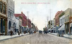 Main Street looking west, Stevens Point, Wisconsin, 1920. McMillan Memorial Library.