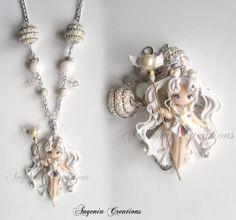 Angenia Creations, blogspot, Usagi, Sailor Cosmos, Craft, Product, Necklace