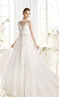Pronovias Parle wedding dress currently for sale at 69% off retail.