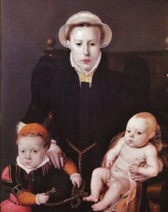 1563 Bernard de Rijkere. Anna van Herstbeeke, daughter, Catharina, and son, Jan.