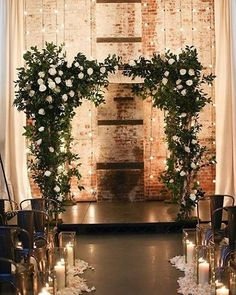 This is perfect !! The lights and greenery and candles