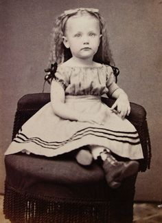 Civil War Era CDV Photo of Beautiful Little Girl Lovely Hoop Dress Lykenstown PA | eBay