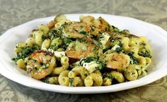 Greek shrimp and spinach pasta # food recipes