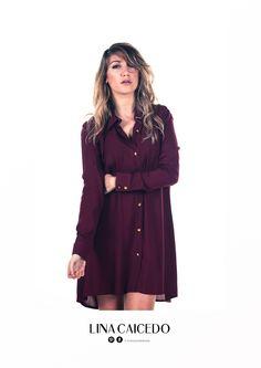 Vestido Camisero SOFIA. Ethical Fashion, Coat, Jackets, Shirtdress, Down Jackets, Sewing Coat, Sustainable Fashion, Peacoats, Coats