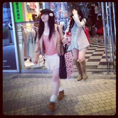 Shibuya 109 spring fashion trends 2012 pink tops courtesy of @loic bizel
