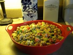 Couscous Salad with Cucumbers and Tomatoes Recipe