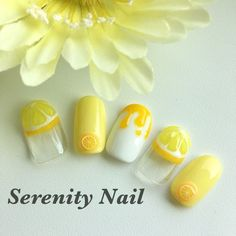 23 große gelbe Nail Art Designs 2019 - Gold - Acrylic Nails- - New Ideas Yellow Nails Design, Yellow Nail Art, Kawaii Nail Art, Cute Nail Art, Japan Nail Art, Lemon Nails, Gold Acrylic Nails, Nagellack Trends, Happy Nails