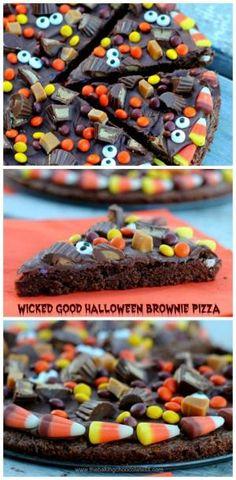 Wicked Good Halloween Brownie Pizza by glenda