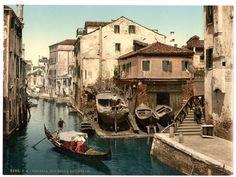 Lo squero sul rio dei Muti  (Venezia fra '800 e '900)