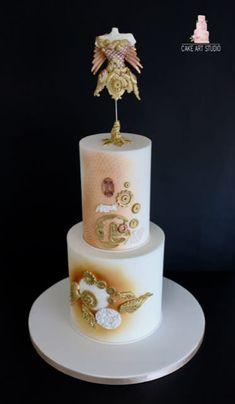 Steampunk Collaboration - cake by Cake Art Studio Gorgeous Cakes, Pretty Cakes, Amazing Cakes, Mnm Cake, Cupcake Cakes, Cupcakes, Steamed Cake, Steampunk Design, Cake Art