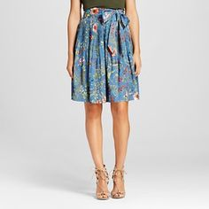 Women's Printed Pleated Skirt with Belt - ISANI for Target