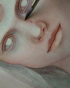 Watercolor Portrait Tutorial, Watercolor Art Face, Watercolor Painting Techniques, Watercolour Tutorials, Watercolor Portraits, Painting & Drawing, Watercolor Paintings, Pencil Art Drawings, Art Drawings Sketches