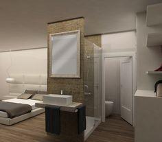 Reforma de casa en Gavà. baño suite con plato de ducha a medida. #interiorismo #diseño #barcelona