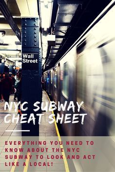 The NYC Subway System can be intimidating. It's crowded, fast paced, and the map can be hard to understand at first. Here is our guide to everything you need to know about the NYC Subway System to look and act like a local.