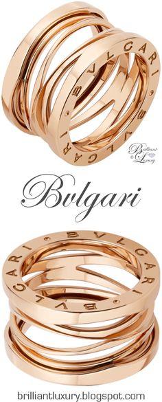 Brilliant Luxury ♦ Bvlgari B.Zero1 'Design Legend' by Zaha Hadid 4-band 18 kt rose gold ring UDATED