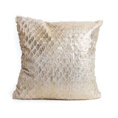 Gold Soft Mermaid Print Cushion - Chickidee Homeware