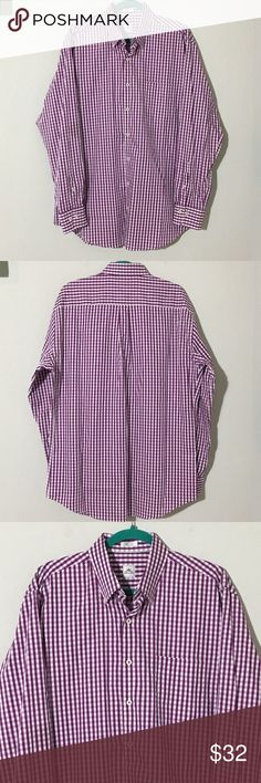 """Peter Millar Purple Plaid Button L/S Dress Shirt L Men's Peter Millar purple plaid long sleeve button down dress shirt Sz L Measurements 25.5"""" armpit to armpit, 26.5"""" sleeve, 32.5"""" shoulder to hem.  Excellent condition no flaws Peter Millar Shirts Dress Shirts"""