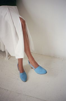 Brown legs, blue shoes. Maryam Nassir Zadeh, 2013.