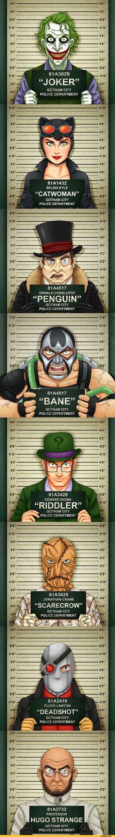 811432SELINA KYLECATWOMANGOTHAM CITY POLICE DEPARTMENT81A4517OSWALD COBBLEPOTPENGUINGOTHAM CITY POLICE DEPARTMENT,Batman,DC Comics,villain,mugshots