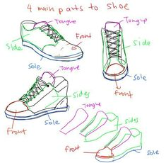 Sneakers drawing sketches design reference ideas for 2019 Drawing Tips, Drawing Reference, Drawing Sketches, Drawings, Shoes Reference, Shoe Sketches, Sketch Art, Drawing Ideas, Sketching