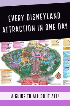 Have you ever wondered if it is possible to do every attraction listed on the Disneyland map in one day? It is totally doable with some advance planning and pixie dust Disneyland Souvenirs, Disneyland Secrets, Disneyland Vacation, Disney Vacation Planning, Disney Vacations, Attractions Disneyland, Disneyland Hacks, Disneyland Christmas, Tropical Vacations