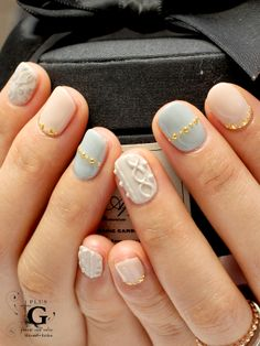 cool stylish knit nail