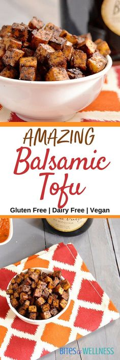 This tofu will make even the biggest skeptic asking for more. Crispy and flavorful, this balsamic tofu is sure to please any crowd! | bitesofwellness.com #vegan #glutenfree #tofu
