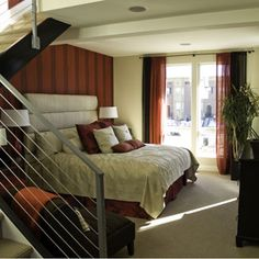 one color consistent through room in pillows, throws, wall color, drapes etc.
