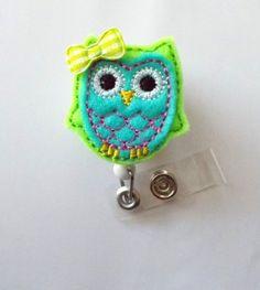 Blue and Green Owl with Bow - Retractable ID Felt Badge H... https://www.amazon.com/dp/B00CSX7WBC/ref=cm_sw_r_pi_dp_bBXGxbDHDZMJY