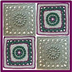 "Ravelry: Crown Jewels - 12"" square pattern by Melinda Miller"