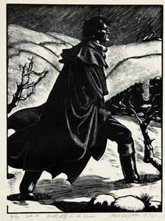 Clare Leighton   (English, 1900–1989)  Heathcliff in the Snow, from the series Wuthering Heights, 1930  Wood engraving