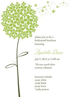 I've been looking for a dandelion art project for days now! I'm going to use my paper punches in the flower and circle shapes to make some wall art inspired by this invitation!