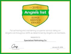 """""""Only about 5 percent of companies in #Raleigh / #Cary / #Durham / #Chapelhill #Wakeforest area have performed so consistently well enough to earn our Super Service #Award,"""" said Angie's List Founder Angie Hicks. """"It's a really high standard.""""  #AngiesList Super Service Award 2015 winners have met strict eligibility requirements, which include an """"A"""" rating in overall grade, recent grade, and review period grade; the company must be in good standing with Angie's List, pass a background check…"""