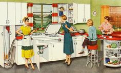 Detail from 1952 Youngstown Kitchens ad.